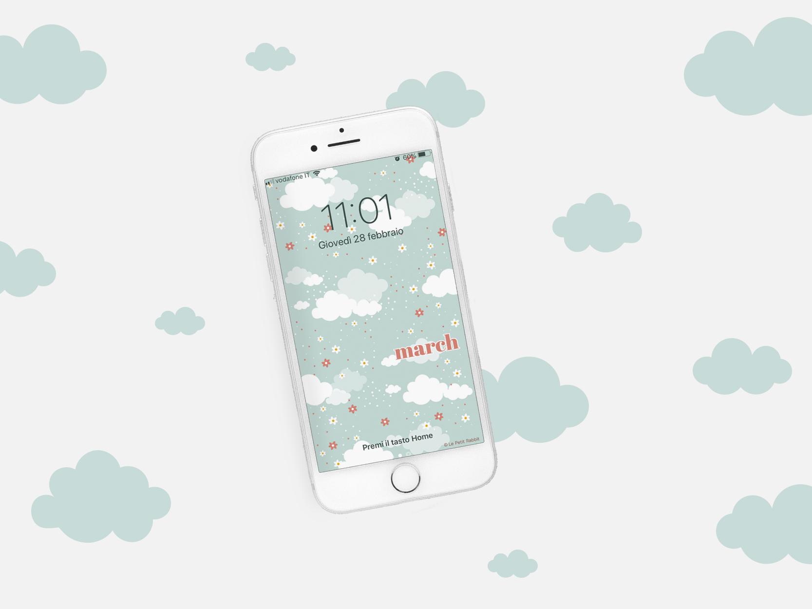 sfondo gratuito per smartphone le petit rabbit